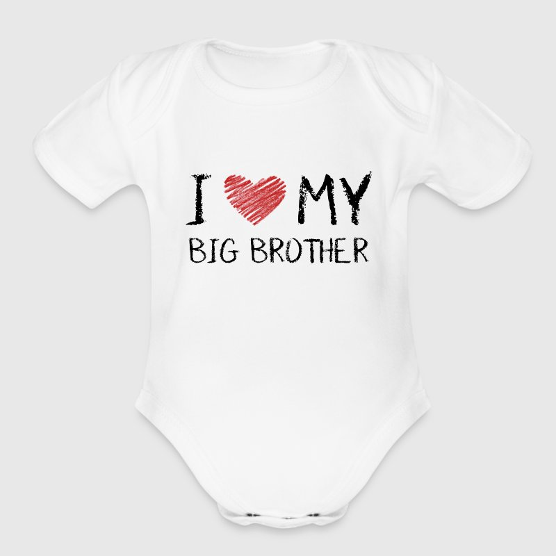 I Love My Big Brother Baby Bodysuits - Short Sleeve Baby Bodysuit