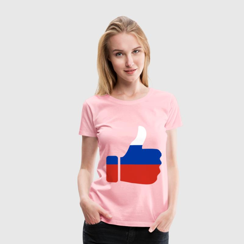 Thumbs Up Russia - Women's Premium T-Shirt