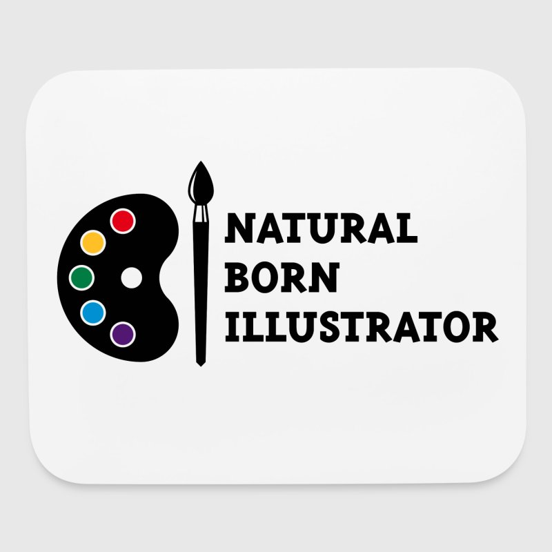 Natural Born Illustrator Other - Mouse pad Horizontal