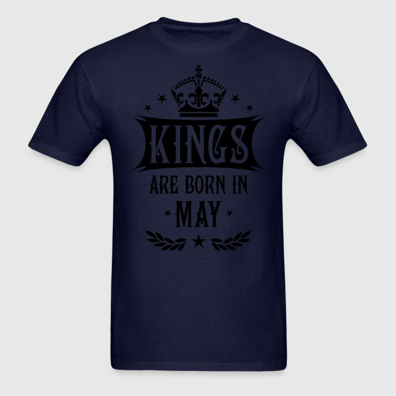 Kings are born in May King Birthday Gift Vintage T - Men's T-Shirt