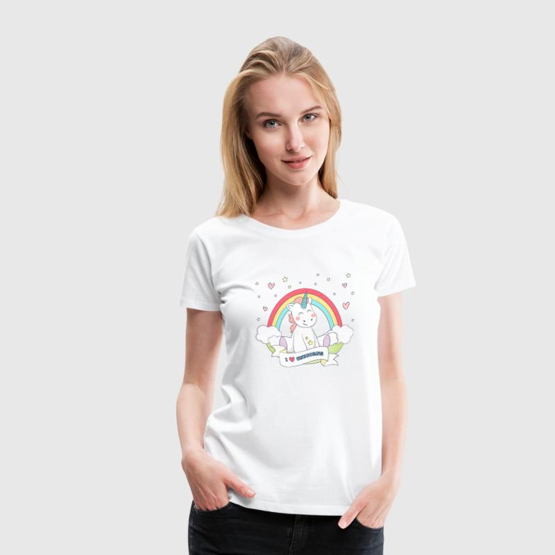I Love Unicorns T-Shirts - Women's Premium T-Shirt
