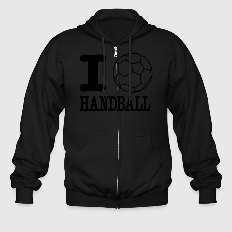 i love handball ball Hoodies - Men's Zip Hoodie