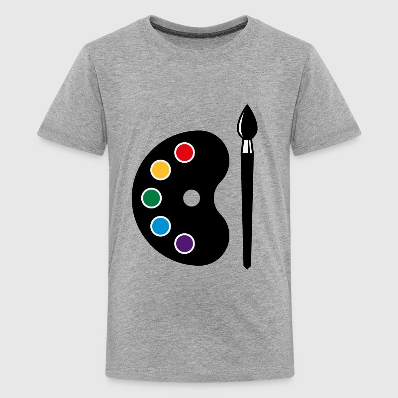 Color Palette With Brush (Art / Artist / Painter) Kids' Shirts - Kids' Premium T-Shirt