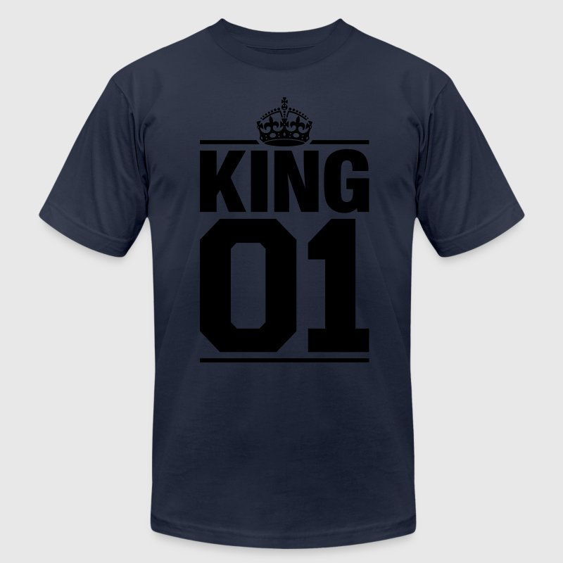King 01 T-Shirts - Men's T-Shirt by American Apparel