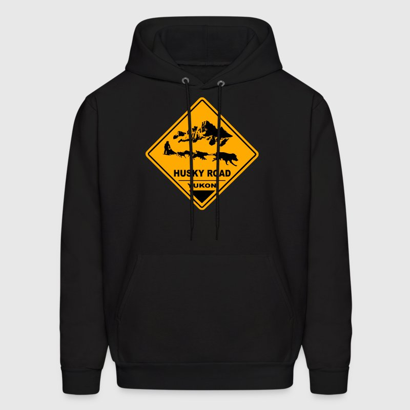 Yukon - Husky Road Sign Hoodies - Men's Hoodie