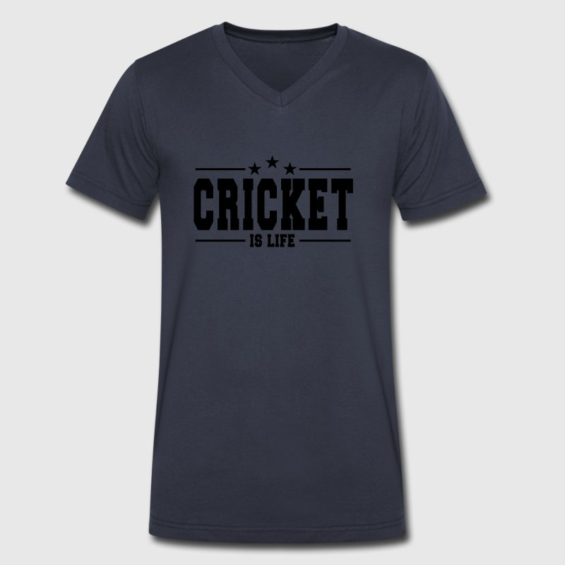cricket is life 1 T-Shirts - Men's V-Neck T-Shirt by Canvas