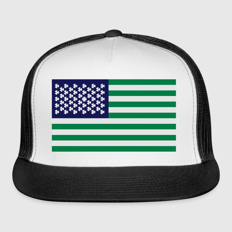 St Patricks Day USA Flag Sportswear - Trucker Cap