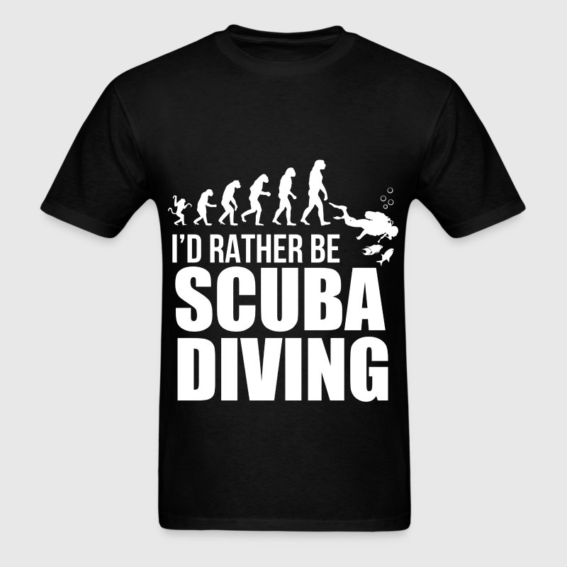 Scuba Diving - I'd rather be scuba diving - Men's T-Shirt