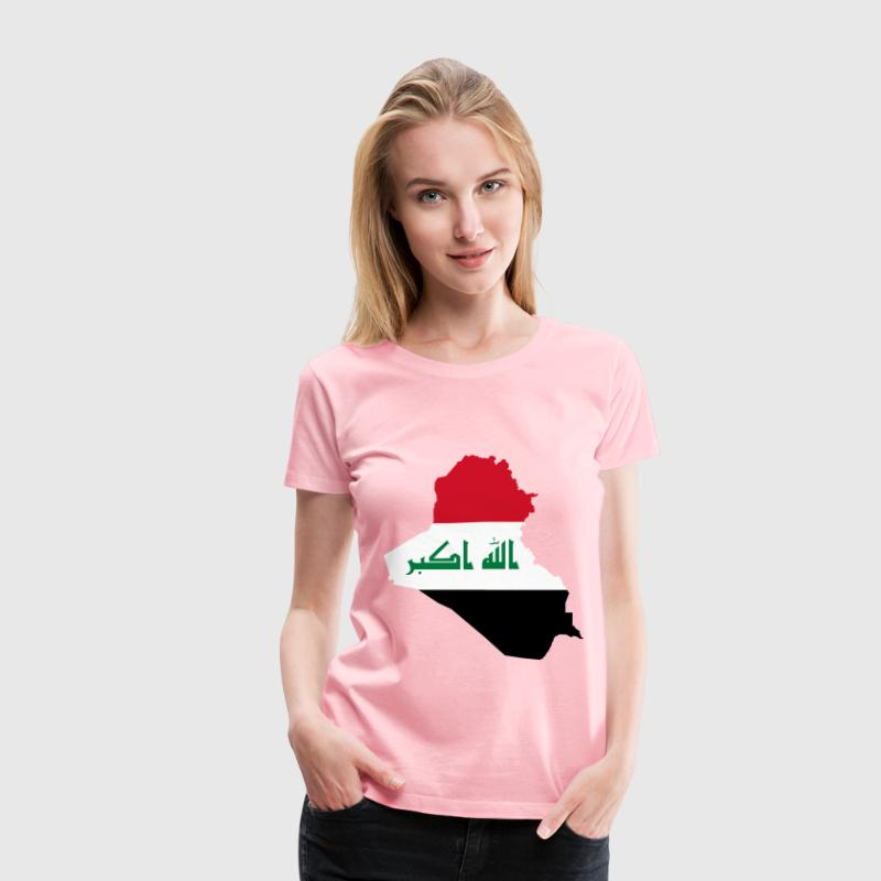 Iraq Map Flag - Women's Premium T-Shirt