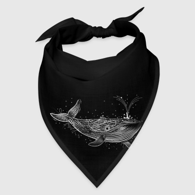 white whale in the ocean Bags & backpacks - Bandana