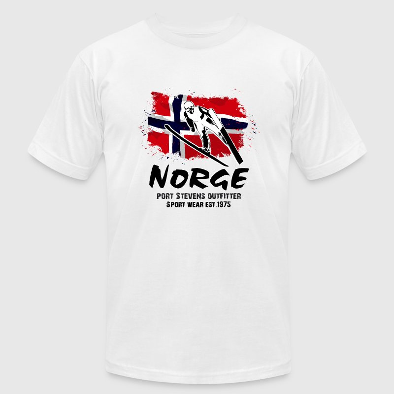 Ski Jumping - Norway Flag T-Shirts - Men's T-Shirt by American Apparel