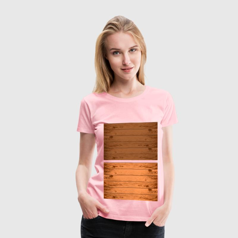 Wood grain texture - Women's Premium T-Shirt