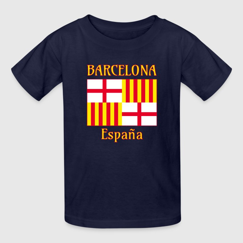 Barcelona flag in red white and yellow Kids' Shirts - Kids' T-Shirt