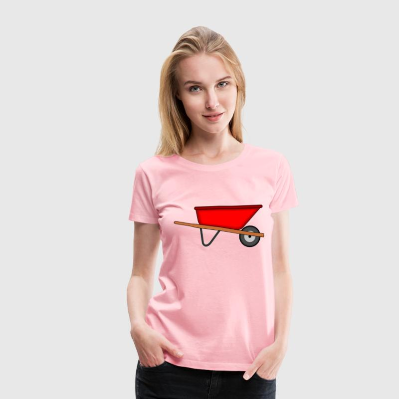 Red Wheelbarrow - Women's Premium T-Shirt
