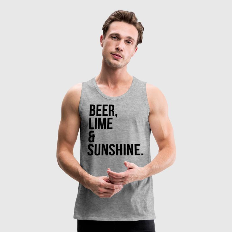 Beer, Line & Sunshine Funny Quote Sportswear - Men's Premium Tank