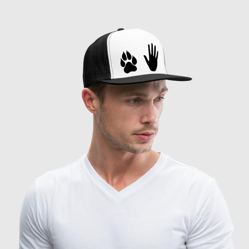 Hand and Paw, Dog and Human Sportswear - Trucker Cap