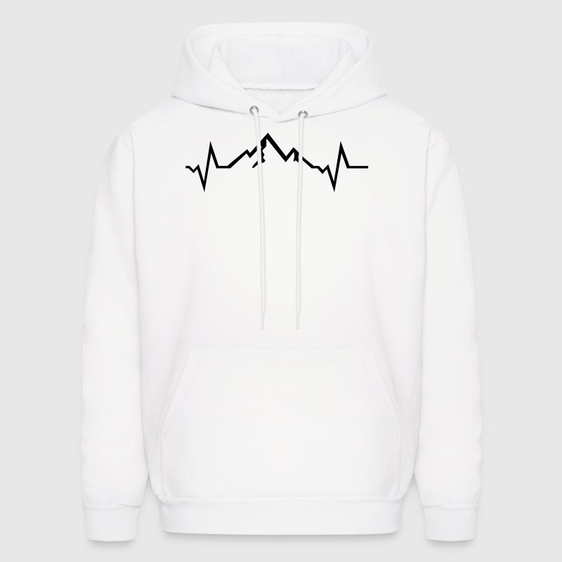 Mountain - Heartbeat Hoodies - Men's Hoodie