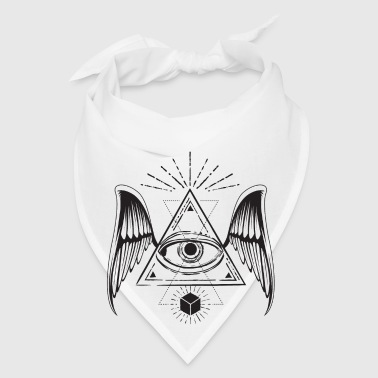All seeing eye with wings Mugs & Drinkware - Bandana