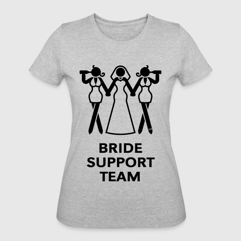 Bride Support Team (Hen Night, Bachelorette Party) T-Shirts - Women's 50/50 T-Shirt