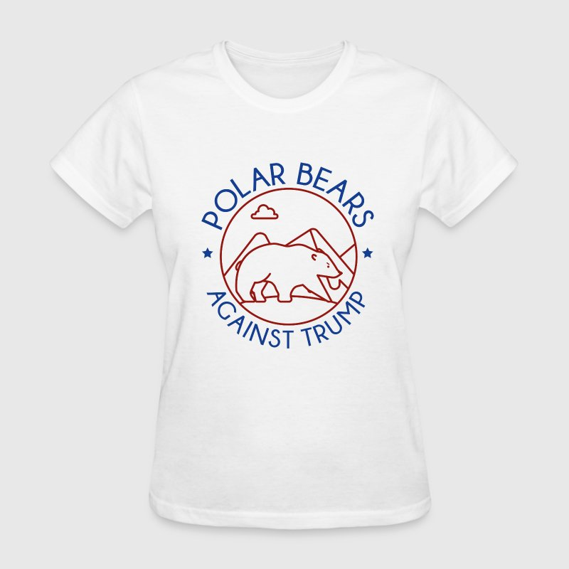 Polar Bears Against Trump - Women's T-Shirt