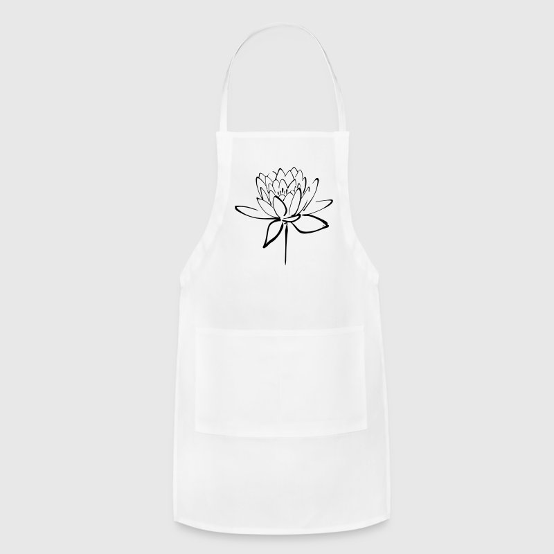 Lotus Calligraphy Adjustable Apron - Adjustable Apron