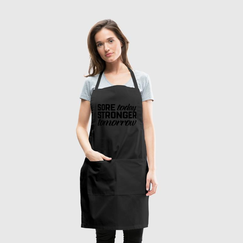 Stronger Tomorrow Gym Quote Aprons - Adjustable Apron