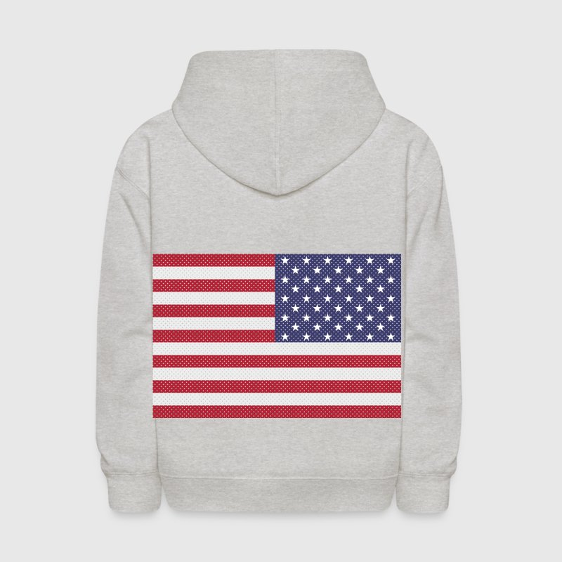 Original cross-stitch american flag Sweatshirts - Kids' Hoodie