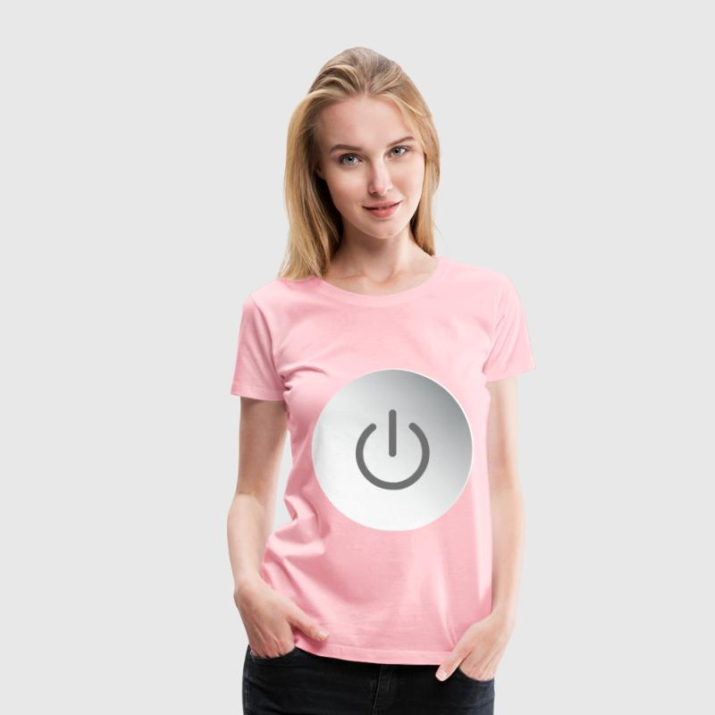 Power Button Icon No Background - Women's Premium T-Shirt