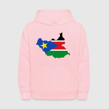 South Sudan Flag Map - Kids' Hoodie
