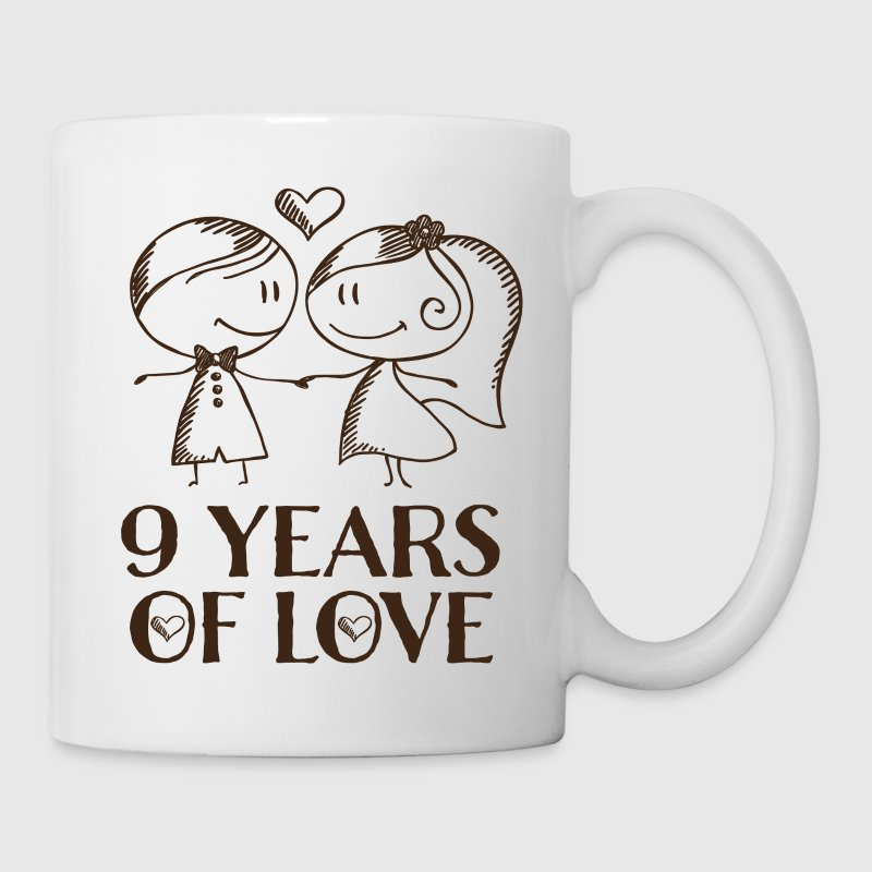 9th anniversary love gift mug spreadshirt 9th anniversary love gift mugs drinkware coffeetea mug negle Choice Image