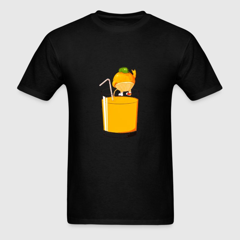 ORANGE PISSING IN YOUR GLASS  - Men's T-Shirt
