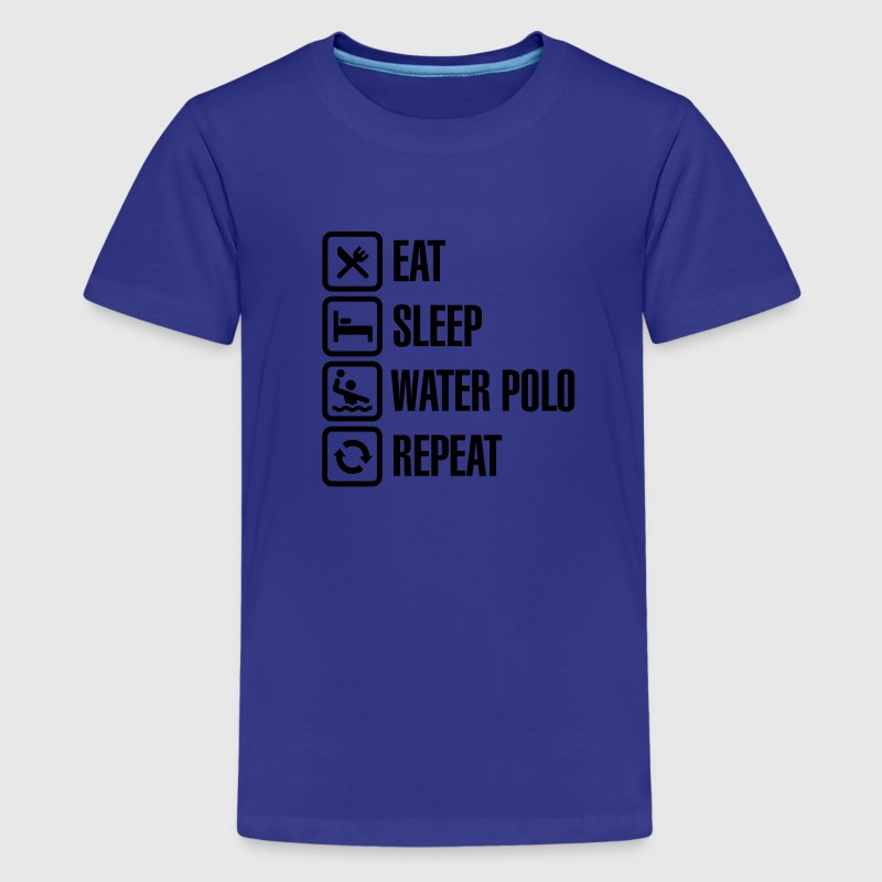 Eat Sleep Water Polo Repeat Kids' Shirts - Kids' Premium T-Shirt