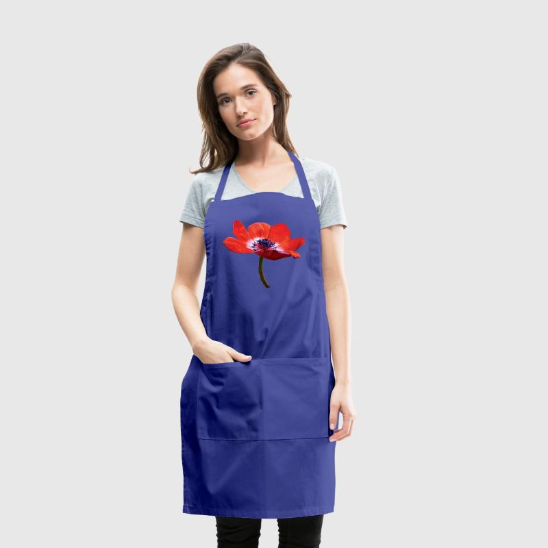 Red Poppy Closeup Aprons - Adjustable Apron