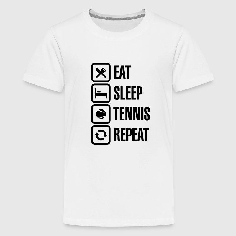 Eat Sleep Tennis Repeat Kids' Shirts - Kids' Premium T-Shirt