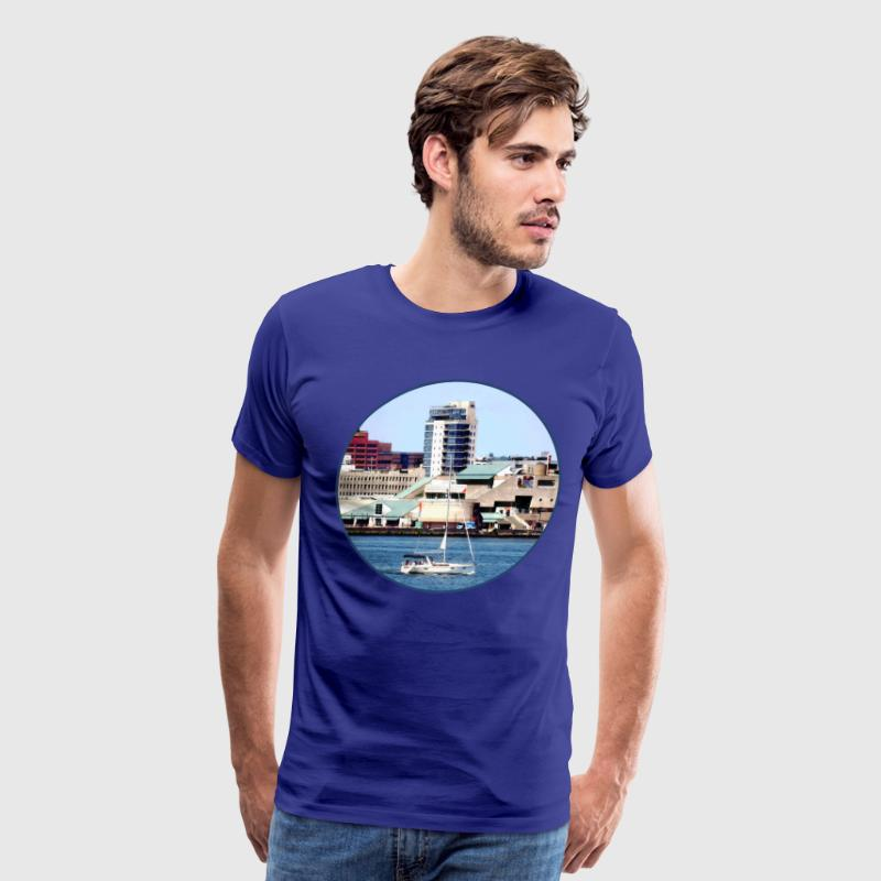 Philadelphia PA - Sailboat by Penn's Landing T-Shirts - Men's Premium T-Shirt