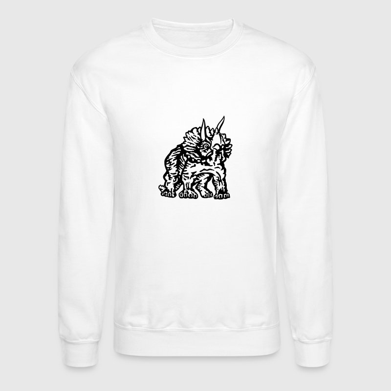 Triceratops Long Sleeve Shirts - Crewneck Sweatshirt