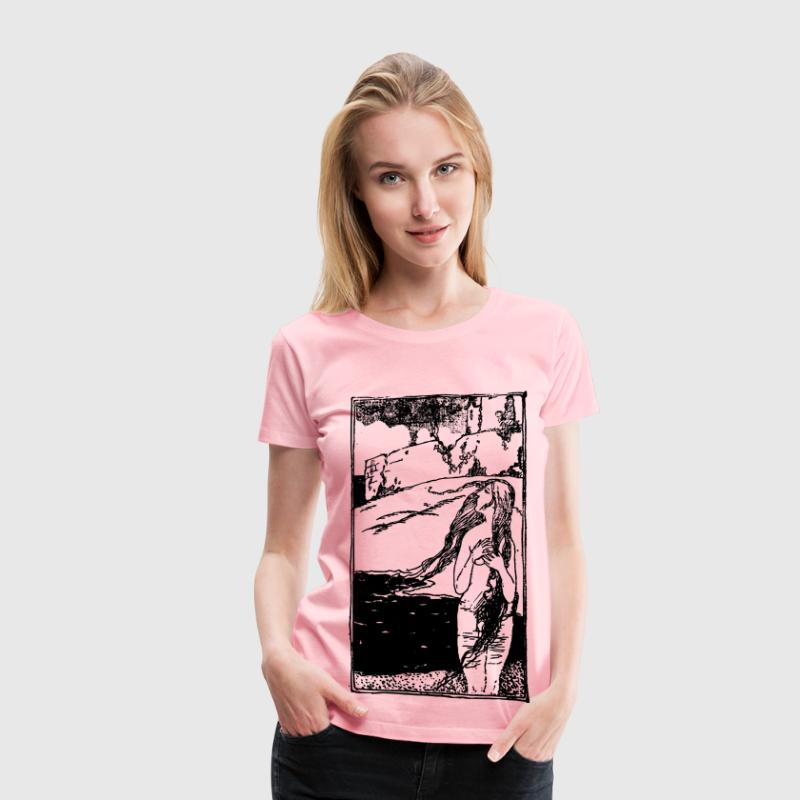 Naked Lady and Castle - Women's Premium T-Shirt