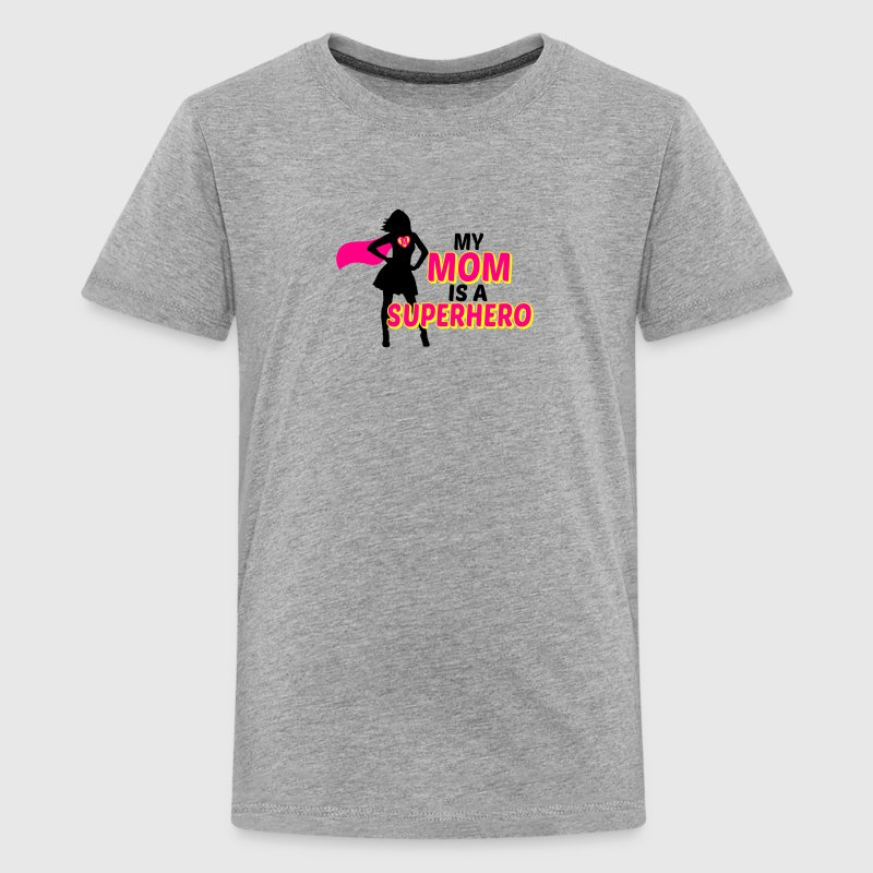 my mom is a superhero Kids' Shirts - Kids' Premium T-Shirt