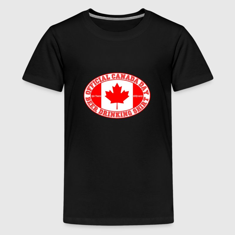 OFFICIAL CANADA DAY BEER DRINKING SHIRT 150 - Kids' Premium T-Shirt