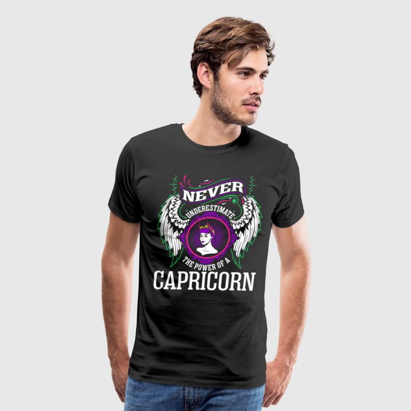 Never Underestimate The Power Of A Capricorn T-Shirts - Men's Premium T-Shirt