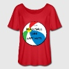 Women's Fllowy Beach Ball Size Lady Nuts tee - Women's Flowy T-Shirt