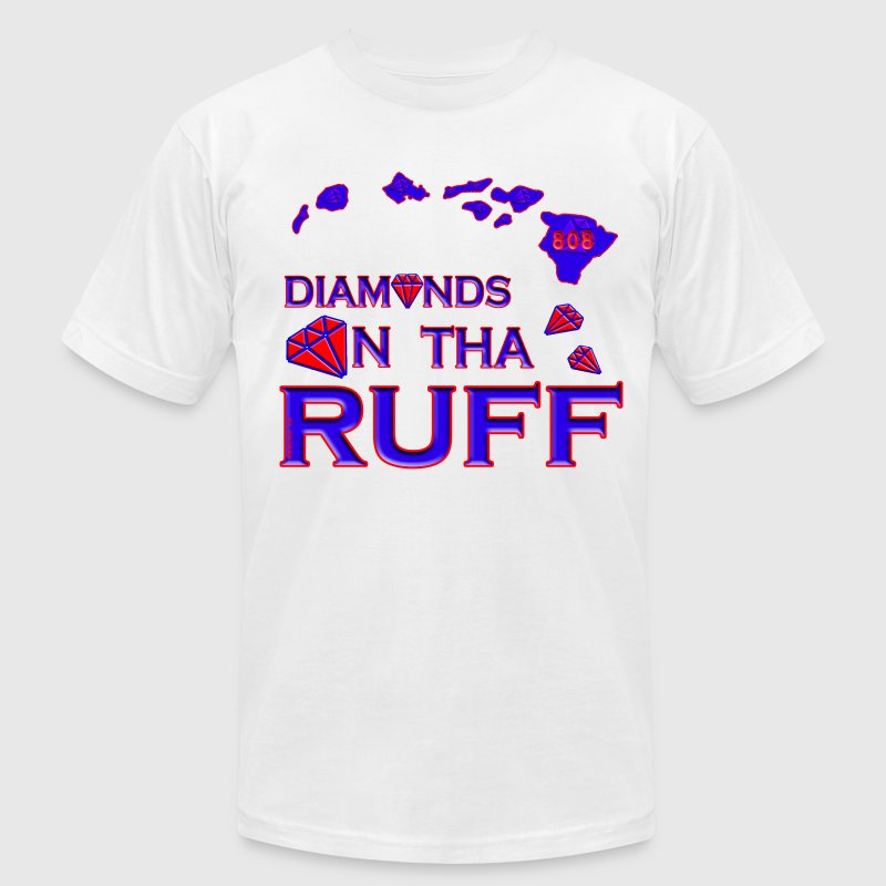 Diamonds In The Ruff - Men's T-Shirt by American Apparel