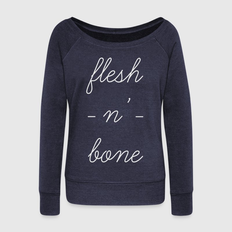 Flesh N' Bone Long Sleeve Shirts - Women's Wideneck Sweatshirt