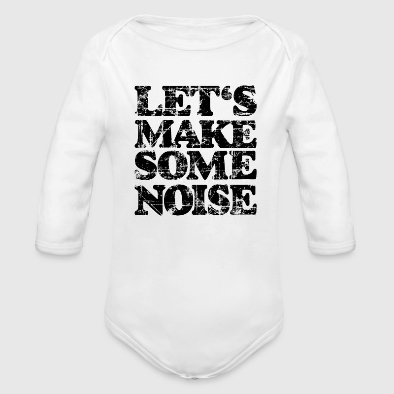 LET'S MAKE SOME NOISE (Vintage/Black) Baby Body - Long Sleeve Baby Bodysuit