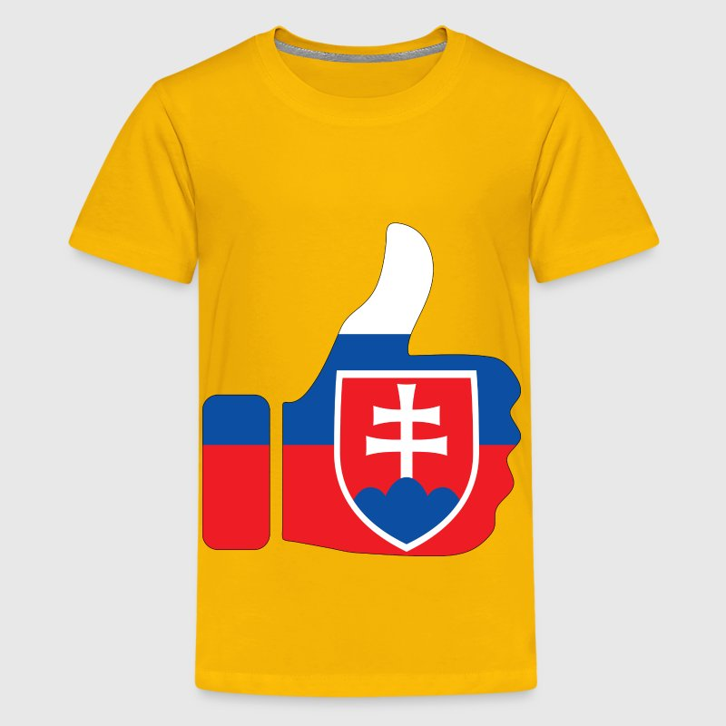 Thumbs Up Slovakia With Stroke - Kids' Premium T-Shirt