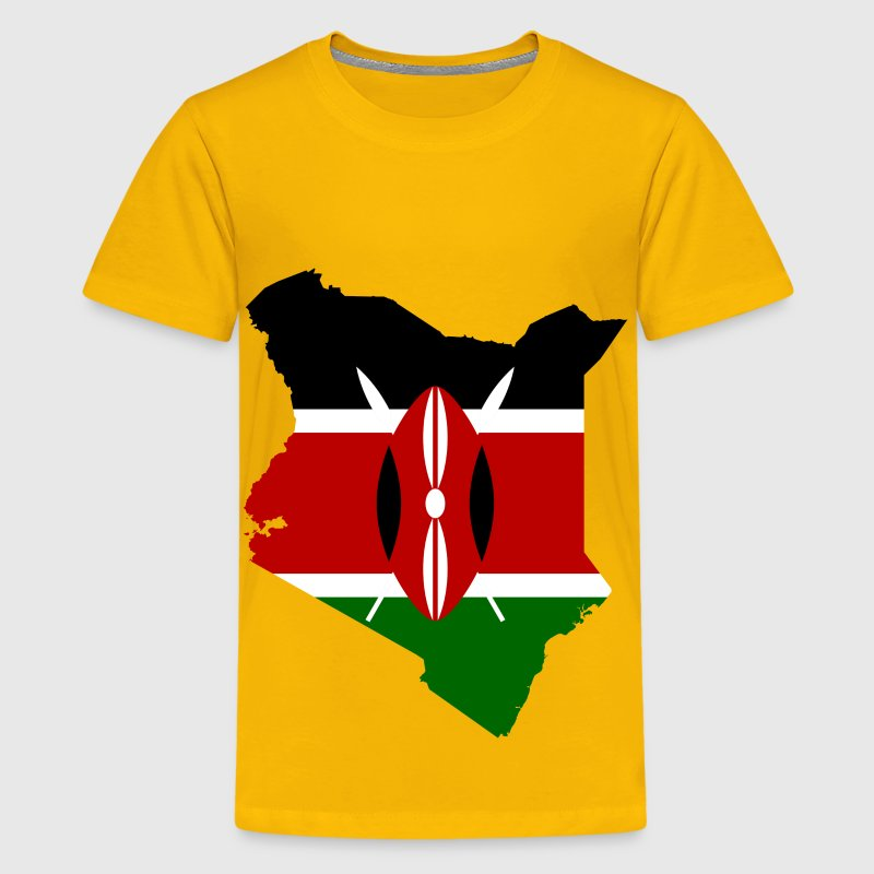 Kenya Flag Map - Kids' Premium T-Shirt