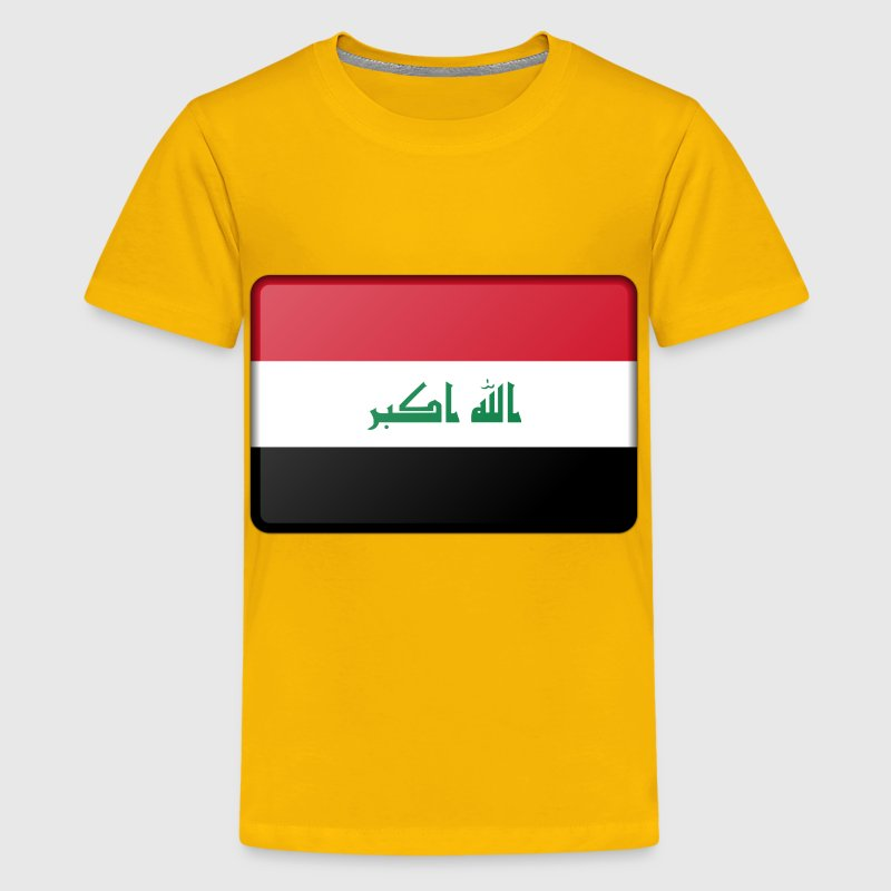 Iraq flag (bevelled) - Kids' Premium T-Shirt