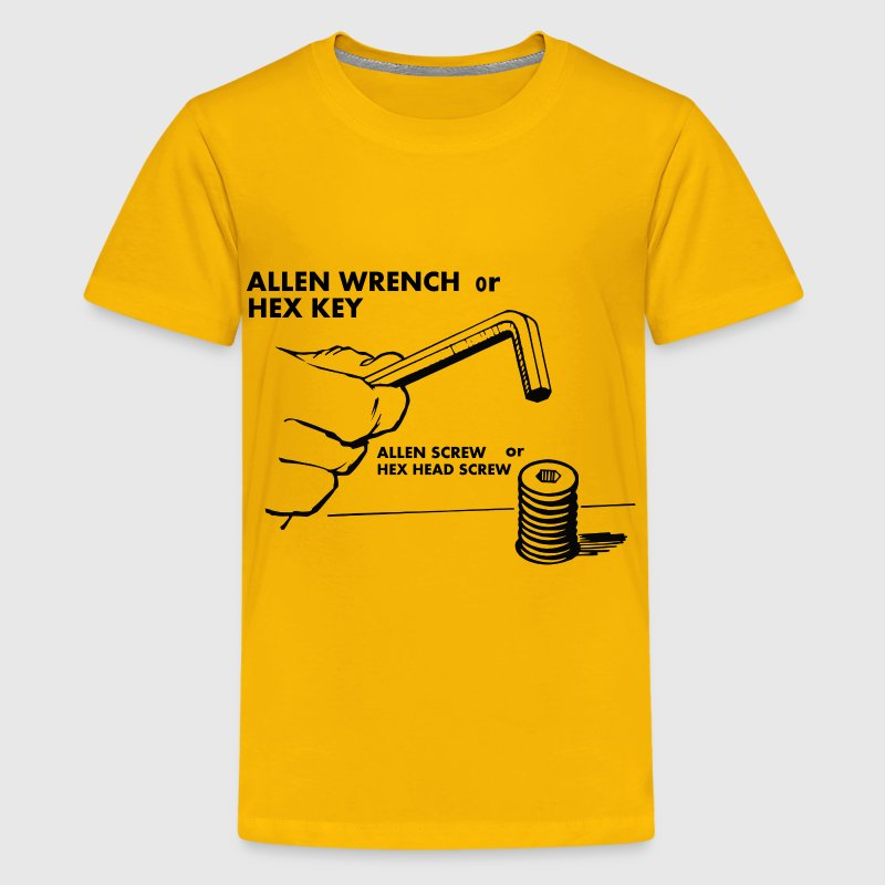 Hex key(Allen wrench) and screw - Kids' Premium T-Shirt