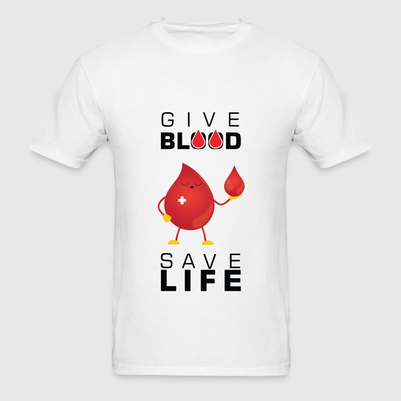 Blood donation - Give blood save life - Men's T-Shirt