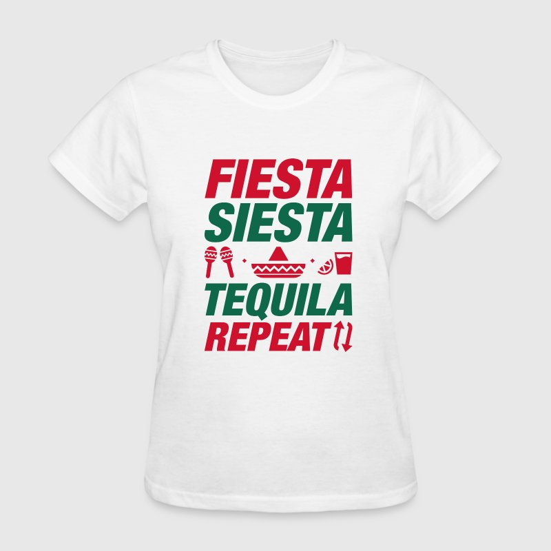 Fiesta Siesta Tequila Repeat - Women's T-Shirt